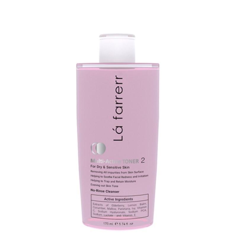 تصویر تونر مولتی اکتیو لافارر مخصوص پوست های خشک و حساس حجم 170 میل Lafarrerr Multi Active Toner For Dry And Sensitive Skin 170ml