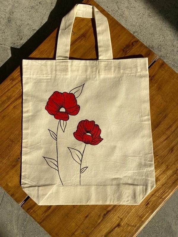 تصویر کیسه خرید گلدار کد 13183181267