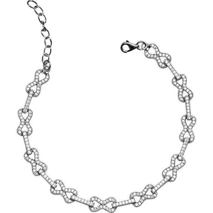دستبند زنجیری نقره - کد SBC034