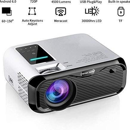 پروژکتور ویدئویی LED Volwco ، پروژکتور WiFi Mini Full HD 1280P قابل حمل با نمایشگر حداکثر 180 اینچ