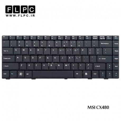 تصویر کیبورد لپ تاپ ام اس آی MSI Laptop keyboard CX480 مشکی-فلت صاف