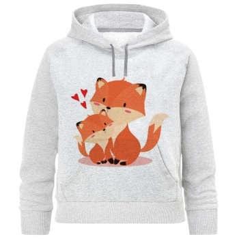 هودی دخترانه طرح روباه کد F252  