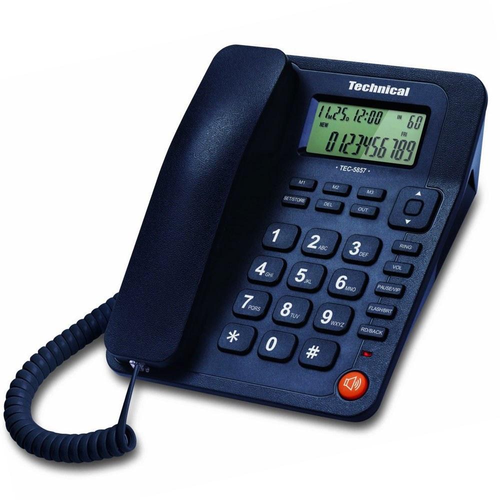 تصویر تلفن رومیزی تکنیکال TEC-5857 Technical TEC-5857 Phone