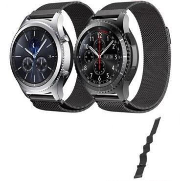 تصویر بند ساعت فلزی مدل Net مناسب ساعت هوشمند سامسونگ مدل Gear S3 Classic Stainless Steel Strap for Samsung Gear S3 Classic Metal Milanese Loop Band