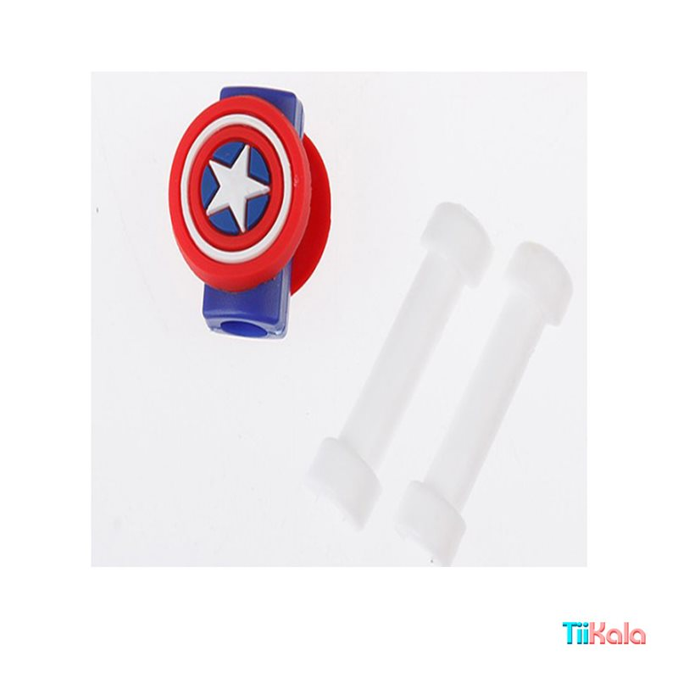 تصویر محافظ کابل شارژ مدل کاپیتان آمریکا