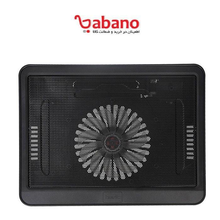 تصویر پایه خنک کننده لپ تاپ هویت مدل HV-F2010 دارای درگاه USB، مجهز به یک عدد فن پر قدرت، سرعت چرخش 700 تا 1000 دور بر دقیقه، دارای نشانگر LED، بی صدا، مناسب لپ تاپهای تا 14 اینچی