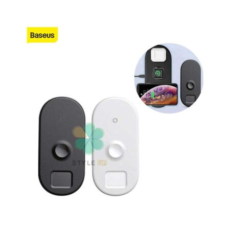 تصویر شارژر بیسیم سه کاره آیفون اپل واچ و ایرپاد بیسوس مدل Baseus BS-IW04 Baseus BS-IW04 Smart 3-in-1 Qi Wireless Charging Pad