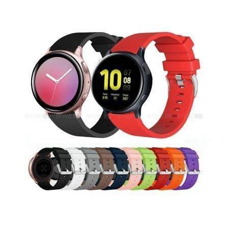 تصویر بند ساعت سامسونگ Galaxy Watch Active 2 سیلیکونی طرح گلکسی Samsung Galaxy Watch Active 2 Silicone Band