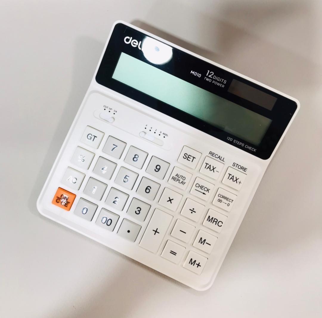 تصویر ماشین حساب deliدلی 12رقم EM01010