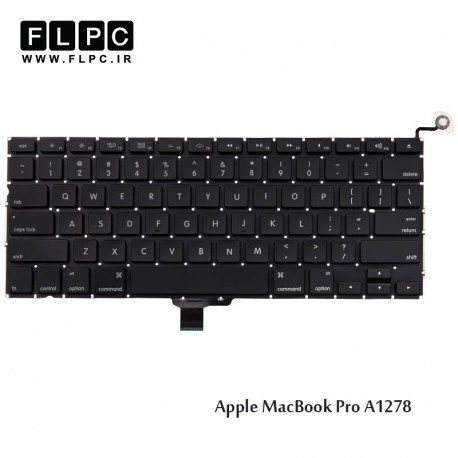 تصویر کیبورد لپ تاپ اپل A1278 اینتر کوچک به همراه کلید پاور Apple Macbook Pro A1278 Laptop Keyboard