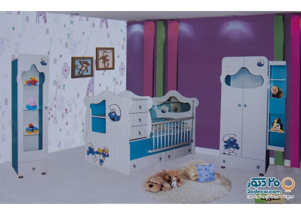 سرویس خواب کودک رومینا مدل اسمورف |