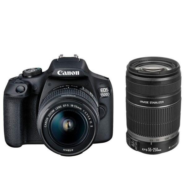 کانن Canon EOS 1500D Kit EF-S 18-55 IS II and EF-S 55-250mm f/4-5.6 IS II