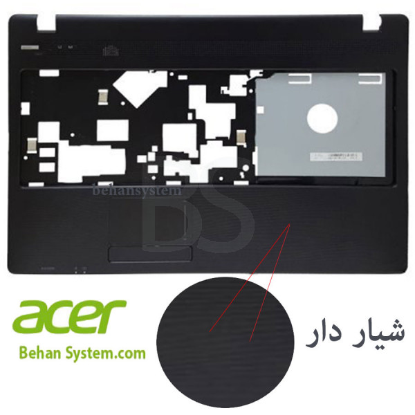 تصویر قاب دور کیبورد لپ تاپ Acer مدل Aspire 5742 با Travelmate 5742 یکسان نیست.
