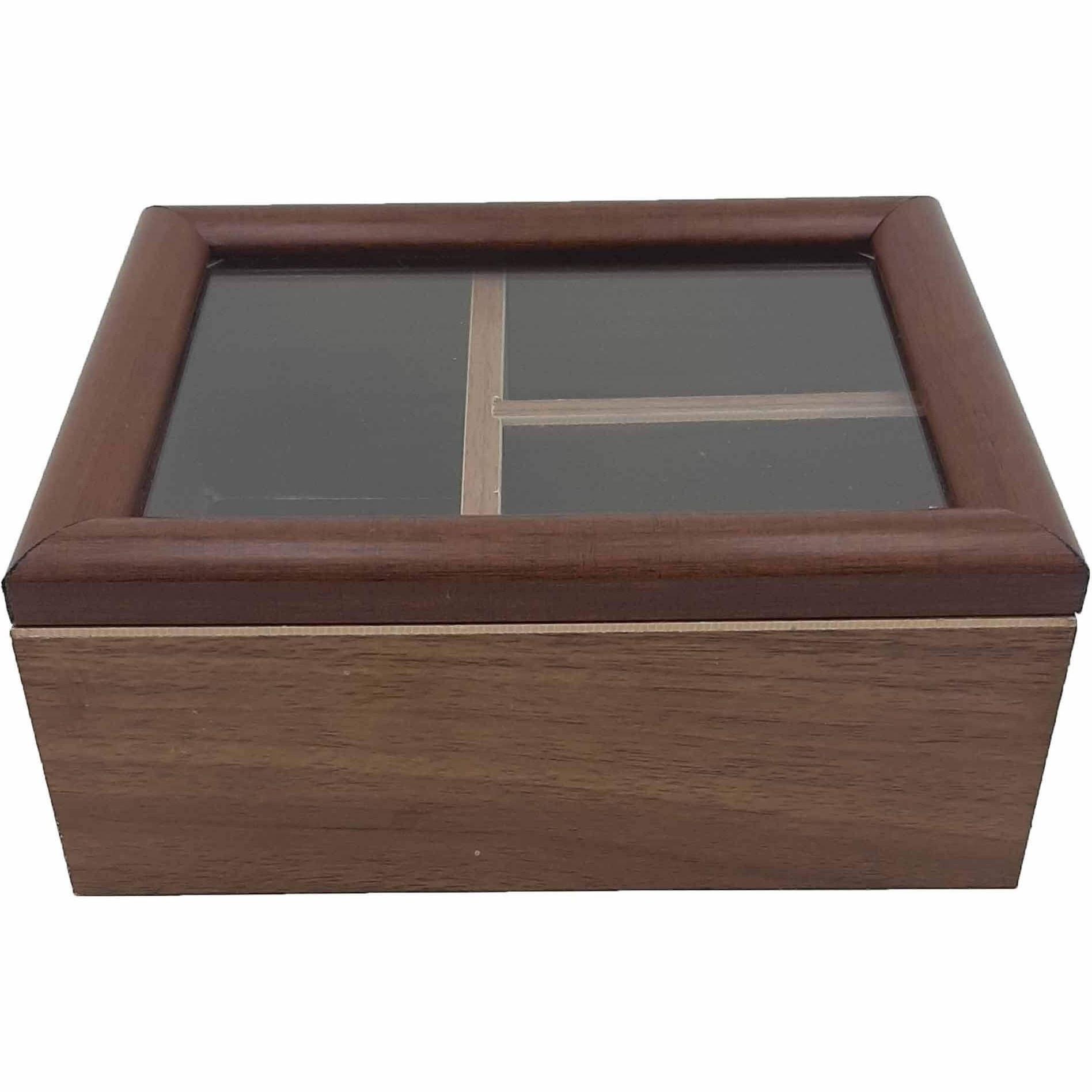 تصویر جعبه تی بگ چوبی سه خانه رایکا