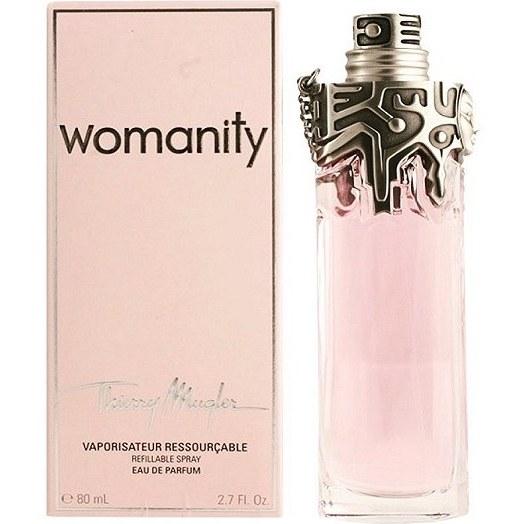 ادو تویلت زنانه تیری ماگلر مدل Womanity Eau pour Elles حجم ۸۰ میلی لیتر