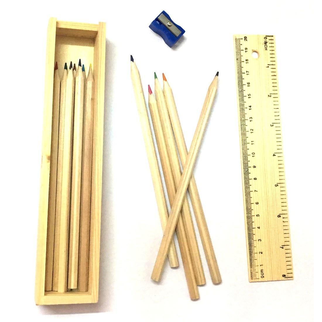 مدادرنگی ١٢رنگ جعبه چوبی main |