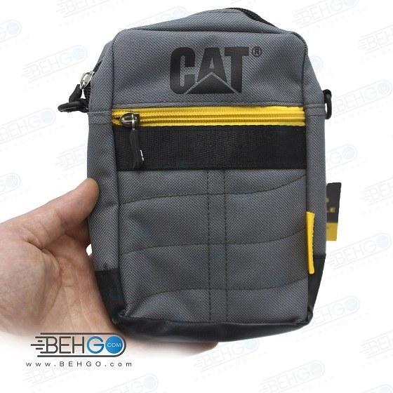 تصویر کیف موبایل ، لوازم و کیف پاور بانک مدل کت 1s کیف گردنی ،دوشی و کمری CAT 1S Mobile Accessories Bag