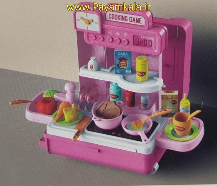 تصویر اسباب بازی دخترانه آشپزخانه چمدانی