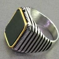 انگشتر عقیق سیاه (اونیکس) اسپرت مردانه _کد:16800 |
