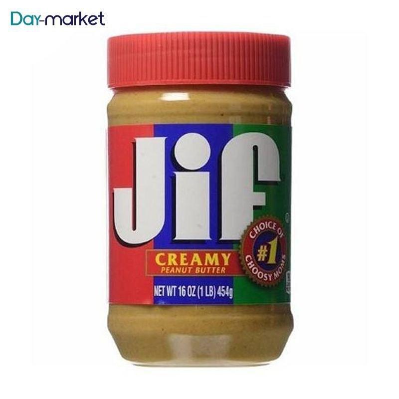 تصویر کره بادام زمینی جیف مدل Creamy Jif Creamy Peanut Butter 454gr