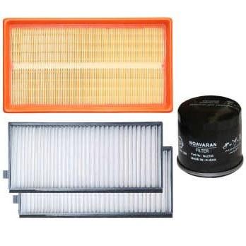 فیلتر هوا خودرو سرعت فیلتر مدل C284 مناسب برای کیا ریو به همراه 2 عدد فیلتر کابین و فیلتر روغن