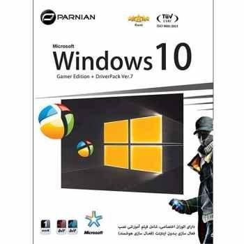 سیستم عامل Windows 10 نسخه DriverPack Ver.7 + Gamer Edition نشر پرنیان
