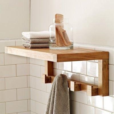 عکس شلف دیواری چوبی همراه با گیره آویز  شلف-دیواری-چوبی-همراه-با-گیره-اویز