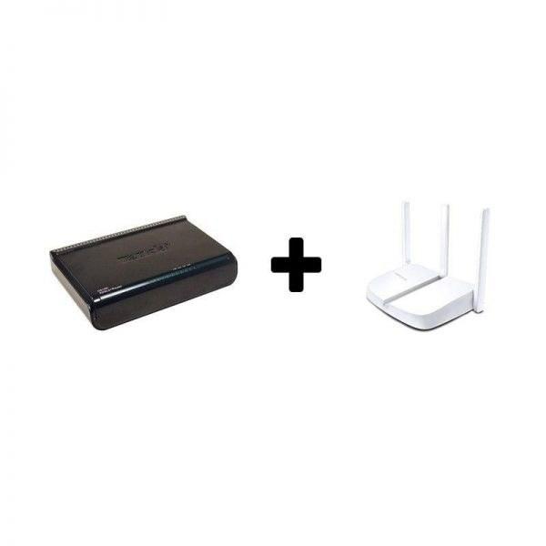 تصویر باندل مودم وایرلس ADSL اقتصادی مرکوسیس تندا