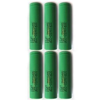 باتری لیتیم یون سامسونگ قابل شارژ مدلICR18650-22F ظرفیت 2200 میلی آمپر بسته 6 تایی | Lithium Ion SAMSUNG Rechargeable Battery Model ICR18650-22F Capacity 2200 mAh