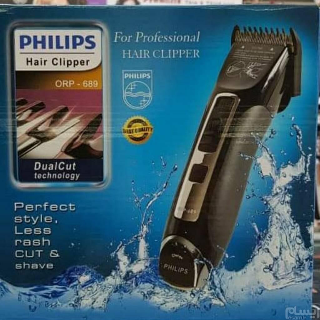 main images ماشین اصلاح ضد آّب فیلیپس Philips ORP-689 Philips ORP-689 Hair Clipper