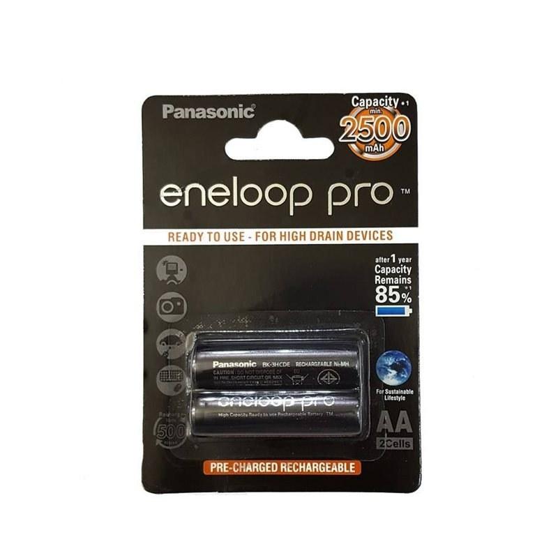 تصویر باتری قلمی قابل شارژ پاناسونیک مدل Eneloop Pro - بسته 2 عددی