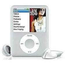 تصویر M-Player iPod Nano 4GB Silver 3rd نسل (بسته بندی شده در جعبه سفید با لوازم جانبی عمومی)…