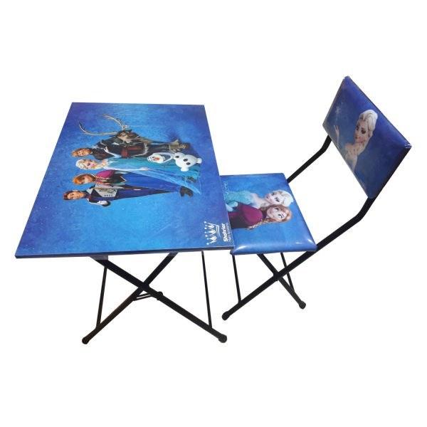 میز تحریر و صندلی تاشو و تنظیم شو شهریار طرح فروزن |