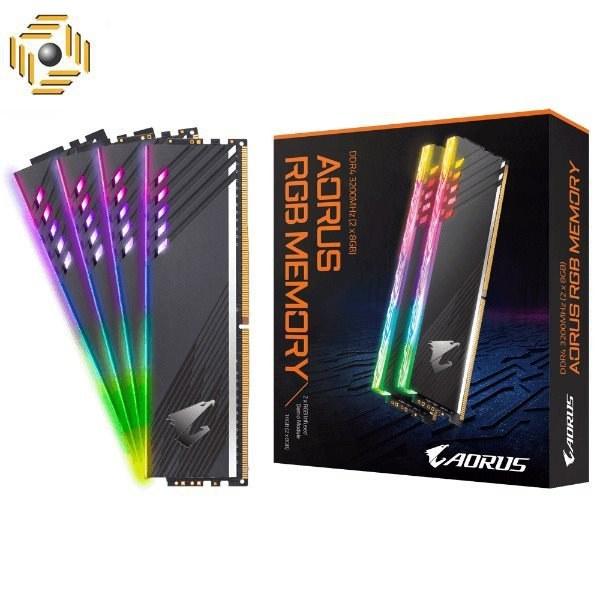 تصویر رم دسکتاپ DDR4 دو کاناله 3600 مگاهرتز CL18 گیگابایت مدل (AORUS RGB (With Demo Kit ظرفیت 16 گیگابایت