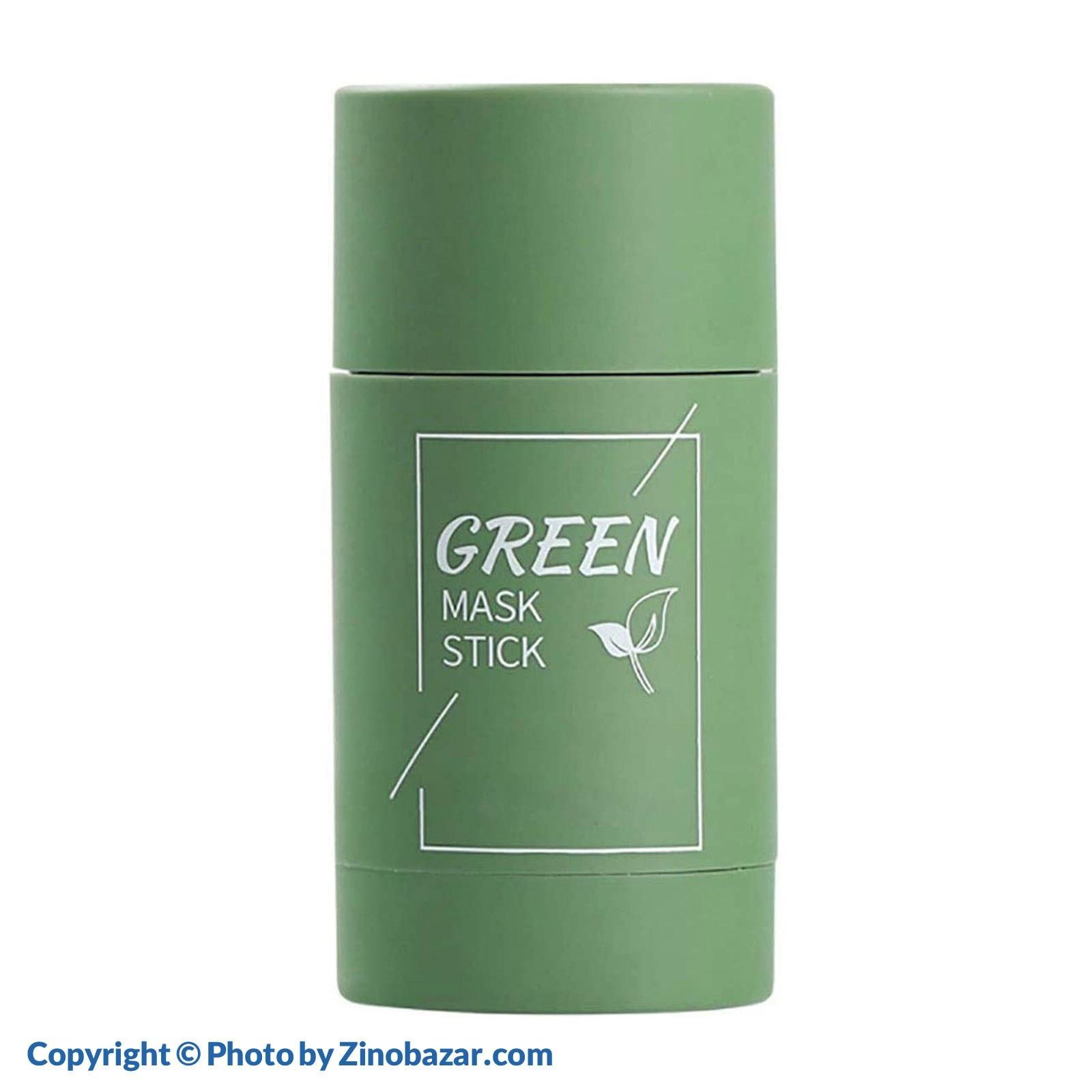 تصویر استیک ماسک جادویی تمیز کننده پوست عصاره چای سبز مدیان