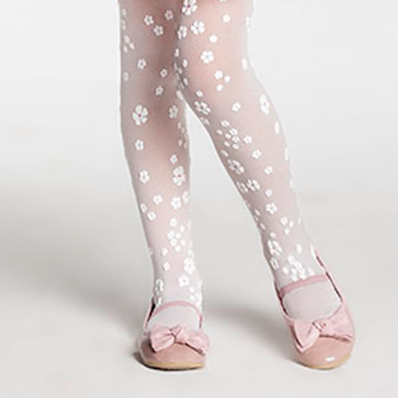 جوراب شلواری شیشه ای گلدار |
