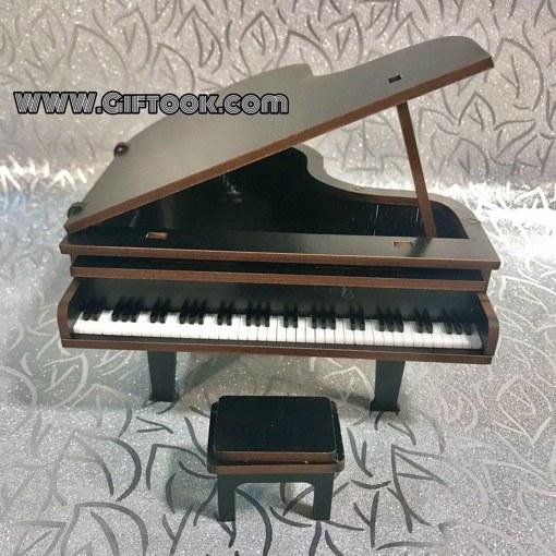 پیانو دکوری مینیاتوری چوبی رنگ مشکی
