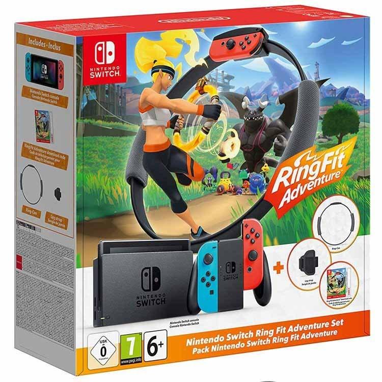 تصویر نینتندو سوییچ باندل بازی Nintendo Switch Ring Fit Adventure
