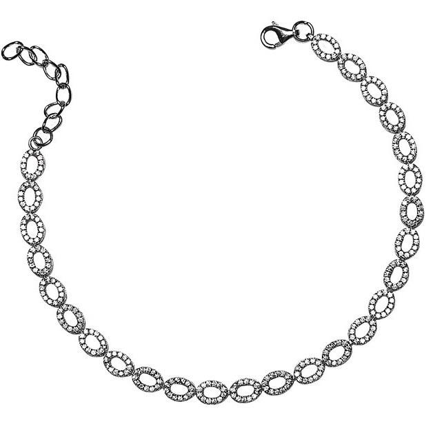 دستبند زنجیری نقره - کد SBC036