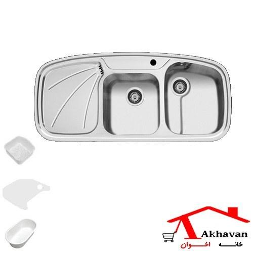سینک ظرفشویی توکار اخوان مدل Akhavan Single Bowl Sink 20 |