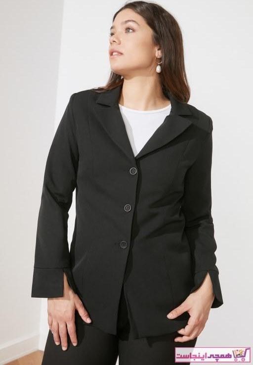 تصویر خرید پستی ژاکت زنانه برند ترندیول میلا رنگ مشکی کد ty73293416