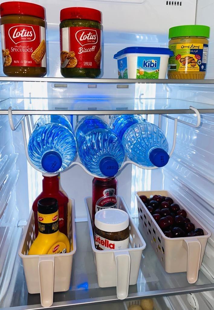 تصویر استند بطری داخل یخچال