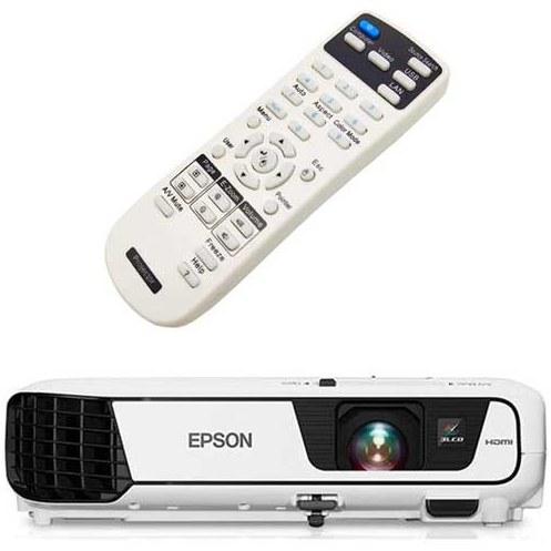 تصویر کنترل ویدئو پروژکتور اپسون مدل  Epson PowerLite W32+