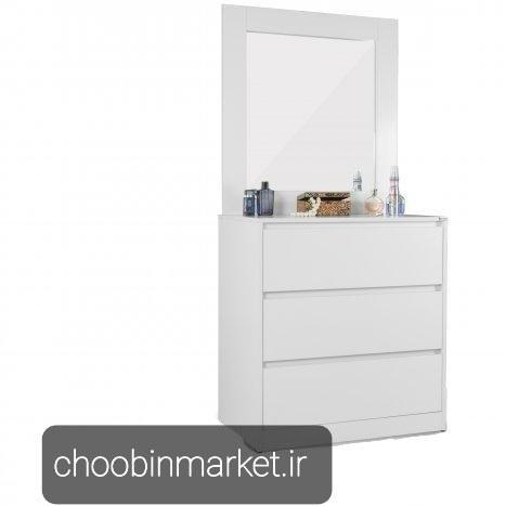 تصویر میز آرایش سه کشو آینه ریلی