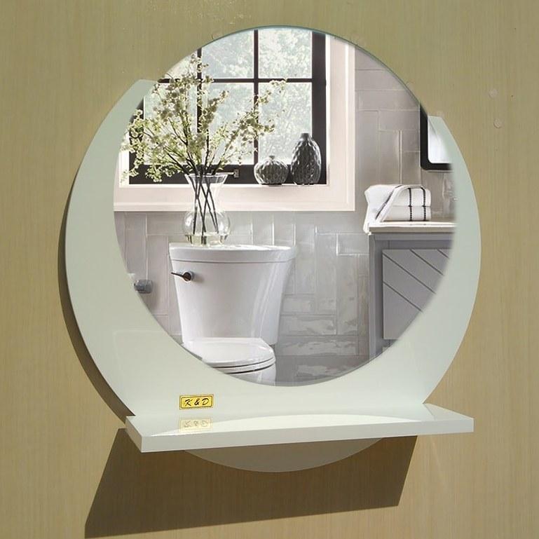 آینه دستشویی مدل ۸۰۰۴ | آینهی گرد سرویس بهداشتی |