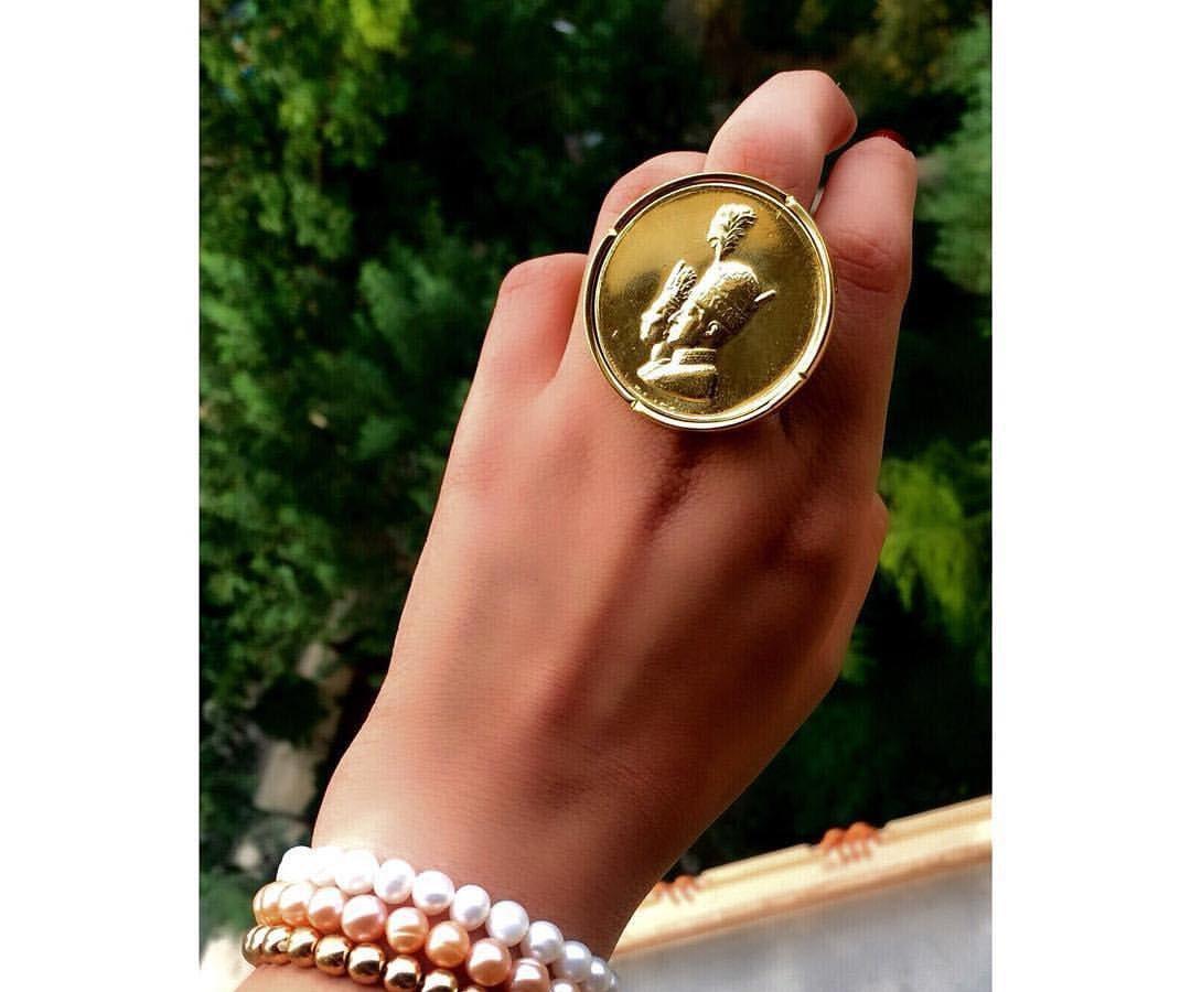 انگشتر سکه شاه و فرح