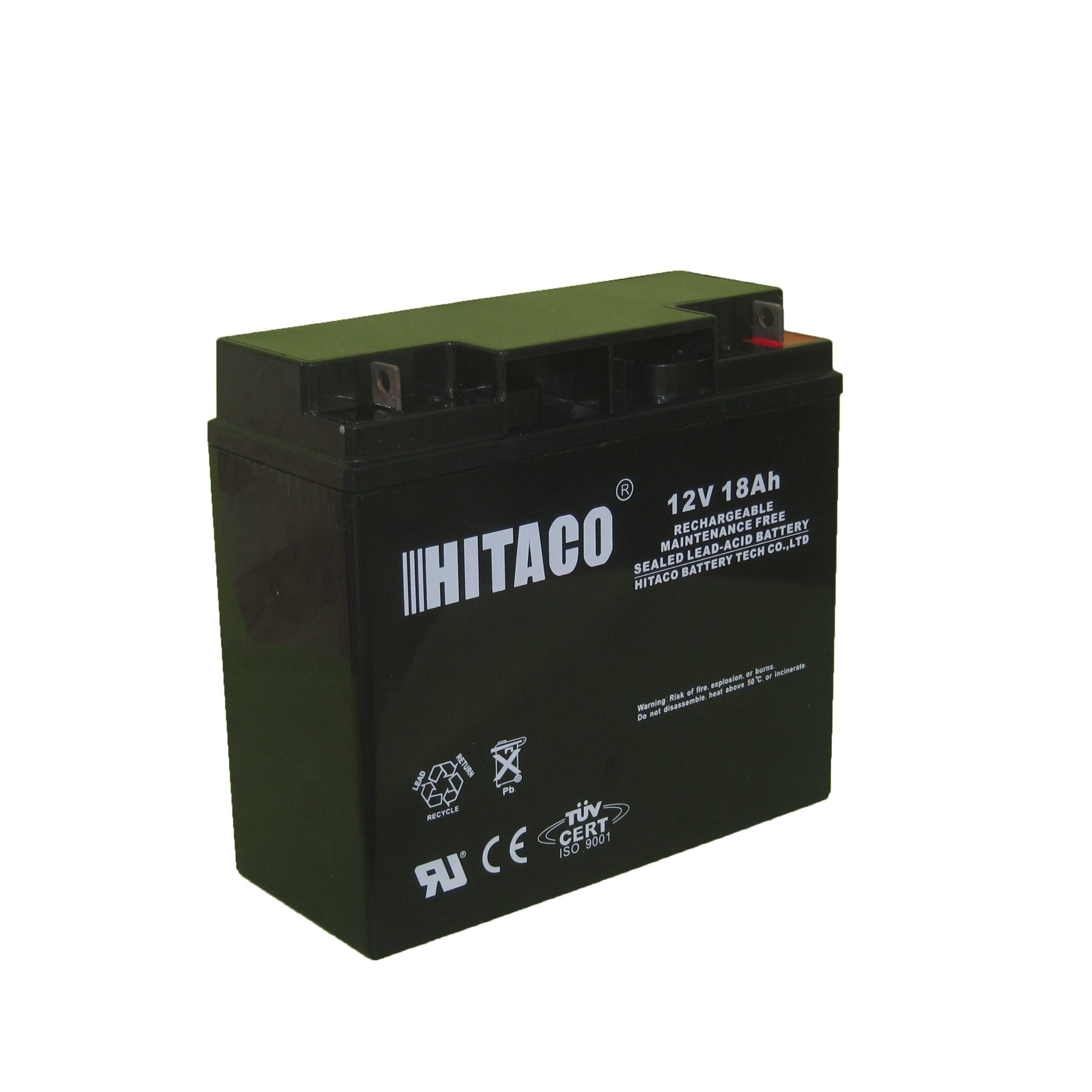 تصویر باتری یو پی اس 12 ولت 18 آمپر ساعت هیتاکو HB18-12
