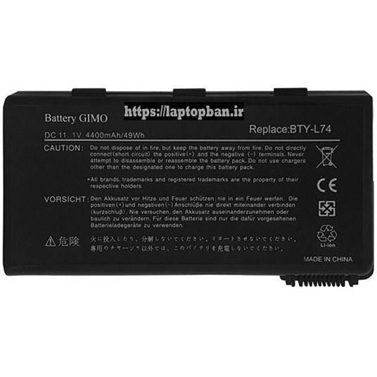 main images باتری لپ تاپ ام اس آی MSI L74 Battery Laptop MSI L74