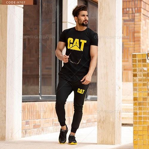 ست تیشرت و شلوار مردانه Cat مدل A9707 |