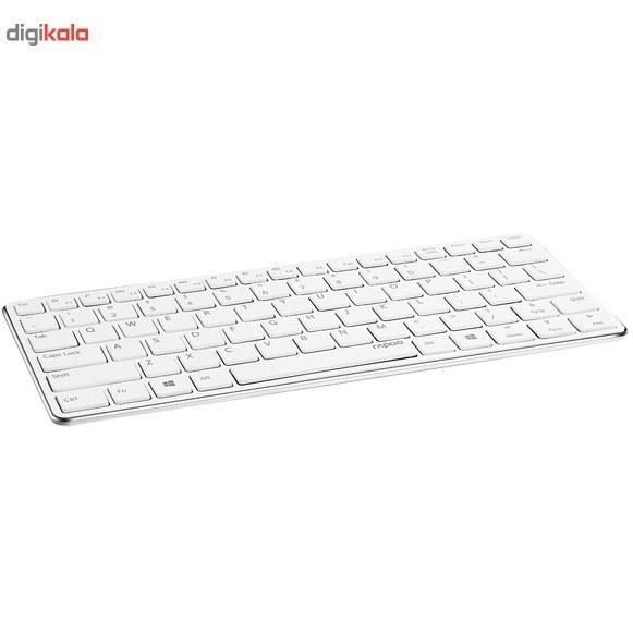 تصویر کیبورد بیسیم رپو مدل E6350 کیبورد رپو E6350 Bluetooth Mini Ultra-Slim Keyboard